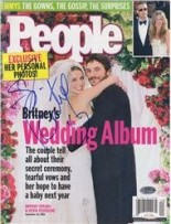 Britney Spears autographed People Magazine