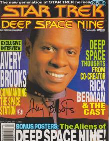 ST: DS9 vol 2 Autographed by Avery Brooks
