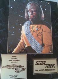 Micheal Dorn Autograph