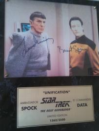 Leonard Nimoy & Brent Spiner Autograph