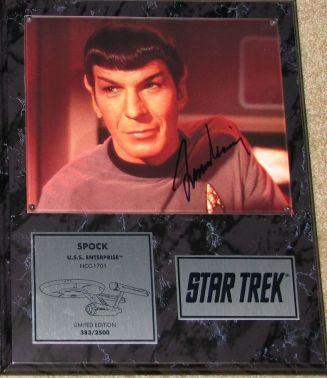 Leonard Nimoy Autographed