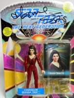 Autographed by the actress Marina Sirtis