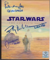 Autographed by Peter Mayhew, Billy Dee Williams and Jeremy Bulloch