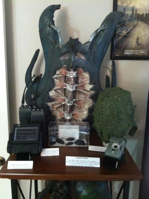 Something from all Stargate TV Series. Some pretty cool looking items. The Wraith Mask is my favorite from this group.