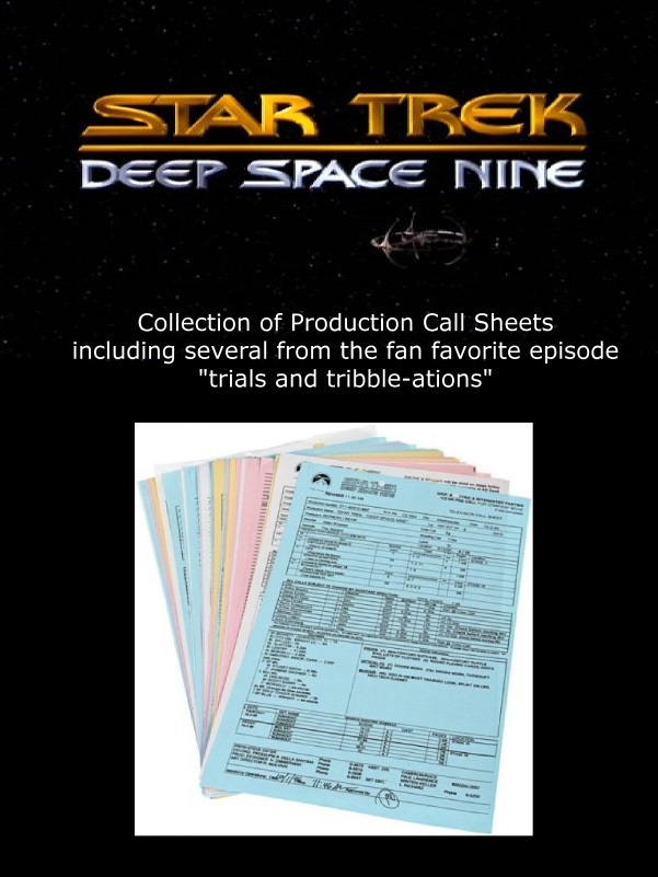 ds9 call sheets