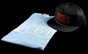 tar Wars ROTJ Light Blue Revenge Crew T Shirt and Black Crew Hat