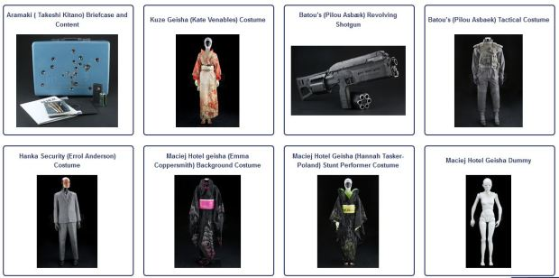 Ghost In The Shell Movie Auction Collector S Hype Original Movie Prop And Costume Blog